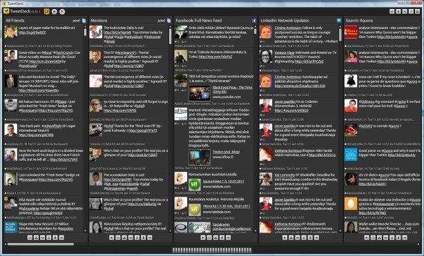 TweetDeck Attention Dashboard Juha Frey